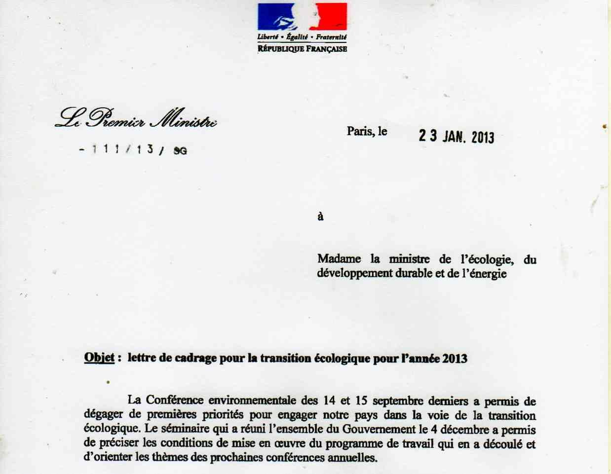 lettre Ayrault