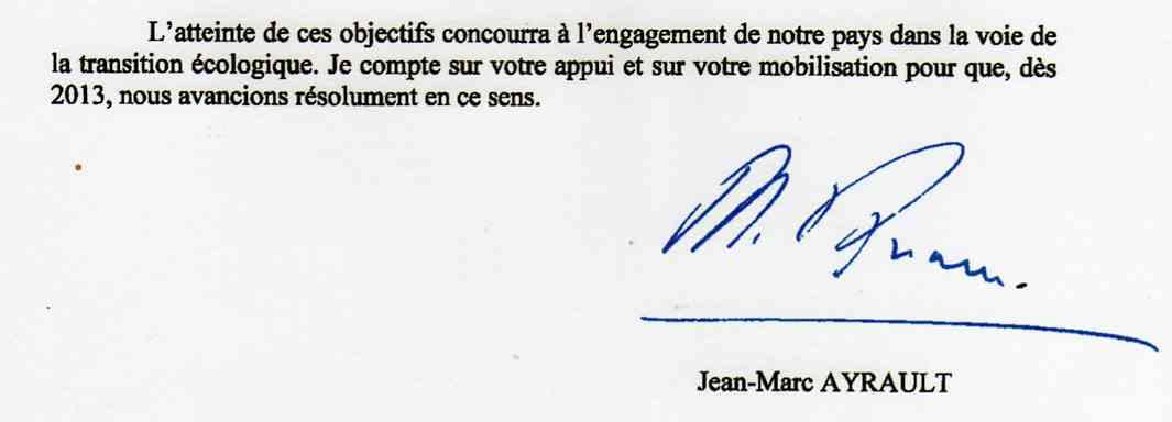 signature Ayrault